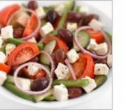 A yummy greek salad served in Greece