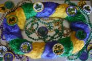 Mardi Gras Colored King cake