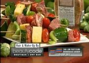 Beef Veggie and Fruit Kabobs