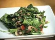 Warm Spinach Salad with Bacon Vinaigrette