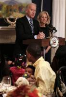Joe Biden and Wife at an early Thanksgiving dinner