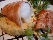 Monkfish with bacon