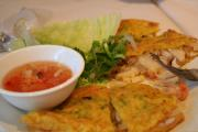 vietnamese pancakes are served in different ways