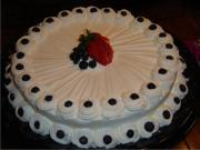 There are many frosting ideas that can be tried on white cakes