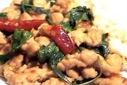 Thai Stir Fried Pork with Sweet Basil