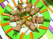 Hot Ham Rolls With Asparagus