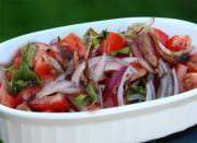 Tomato, Onion And Cilantro Salad