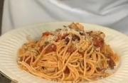 Chicken Puttanesca Italiano with Spaghetti