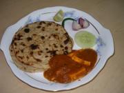 Indian bread or roti is usually served with a main dish and some salads
