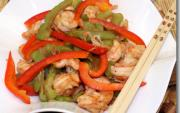 Shrimp Ampalaya with Red Bell Pepper