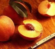 peaches are peeled by blanching