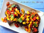 Grilled Jerk Pork Chops With Mango Tomato Salsa