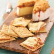 Raspberry walnut brie as appetizer