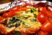 Fillet Of Sole With Spinach & Tomatoes En Papillote