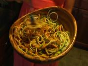 Raw Zucchini Pasta with Spaghetti Sauce