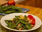 Sugar Snap Peas in a Coconut Crème Mint Sauce