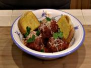 SmokingPit.com - Italian Meatballs in an Authentic San Mazano Tomato Sauce - Yoder YS640