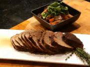 Roasted Top Sirloin with Caramelized Vegetables and Portabella Mushrooms