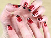 Lady Bug Nail Art