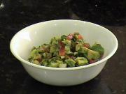 Avocado Salad With Onion And Tomato