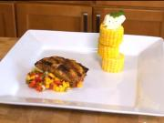 Blackened Mahi and Grilled Corn with Cilantro Butter