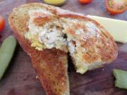 Grilled Cheese, Chicken, Tomato and Basil Sandwich