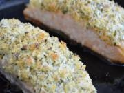 Panko and Parmesan Crusted Salmon