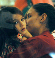 Katie Holmes enjoying a tender moment with her daughter Suri.