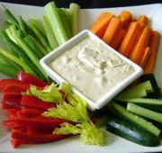 Vegetable platter is a great snack to eat before your wedding.