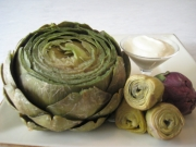 Artichokes with Lemon Yogurt Sauce