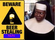 Sister Act: Nun Steals Beer