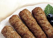 Enjoy cheese sausage at breakfast