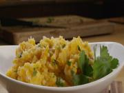 Sweet and Russet Potato Mash with Herbs