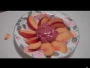 Peaches in Macadamia Plum Cream