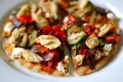 Veggie Pita Pizza