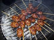Grilled Pork Balls on a Stick