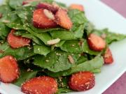 Strawberry Spinach Salad by Tarla Dalal
