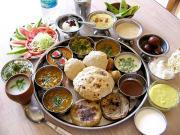 An Elaborate vegetarian Mahrashtrian Thali