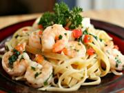 Fettuccini with Shrimp & Spinach