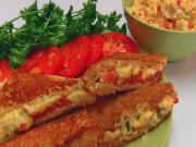 Betty's Grilled Pimento Cheddar Cheese and Tomato Sandwich