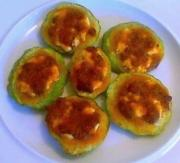 Goat Cheese And Romesco Stuffed Summer Squash
