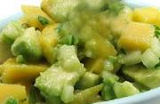 Avocado Salsa Spiced with Serrano Peppers