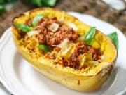 Spaghetti Squash With Easy Meat Sauce Recipe