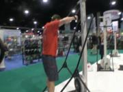 Concept 2 Ski Erg at IHRSA - Jon Ham and Fitness On The Run interview Greg Hammond