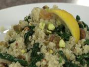 Lacinato Kale and Raisin Pistachio Quinoa with A by Acacia Chardonnay