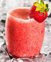 Strawberries and Cream Chobani Smoothie