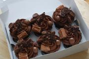 box of chocolate cupcakes