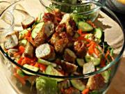 Vietnamese Salad with Shrimp & Lemongrass Meatballs