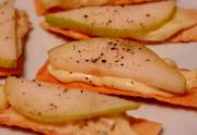 Brie With Pear And Black Pepper Party Snack