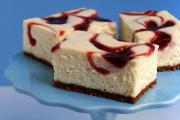 New York Style Strawberry Swirl Cheesecake